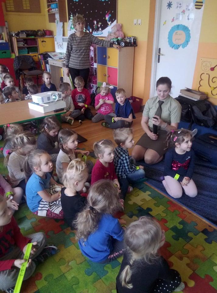 Wizyta Pani Leśnik w przedszkolu